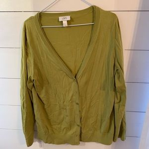 Gorgeous chartreuse sweater